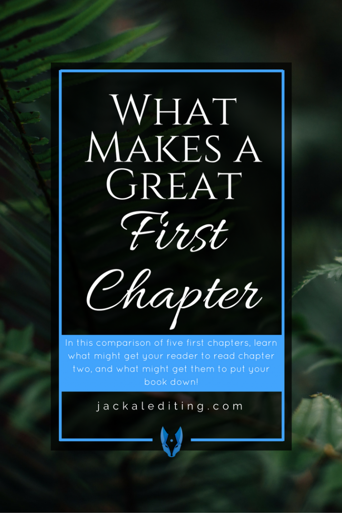 What Makes a Great First Chapter? (A Comparison of 5 First Chapters) | Tips for writers on writing a first chapter that will have your readers hooked. A must read for writers wanting to write an effective first chapter for their stories to hook their readers.