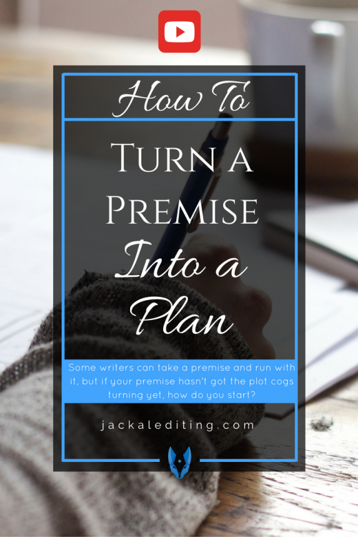 How to Turn a Premise into a Plan | Have you figured out what your story is about, but don't know where to go from there? This video will help you turn your story premise into a plan.
