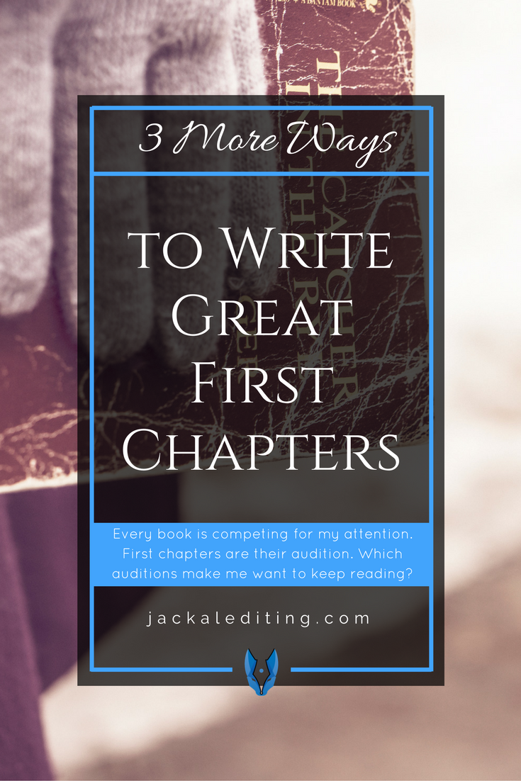 First chapters are important. I have so many books on my TBR list and I need a way to choose which one to read next, so a few months ago I picked a handful of books and read the first chapter of all of them to see which one was the winner. Being a book editor, I've always known that first chapters are important, but it was during this process that I realised justhow important. Here's what I learnt.